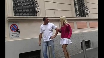 A blonde is taken and dragged handy residence for fuck by a bad guy
