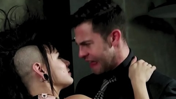Punk slut acquires cumshot