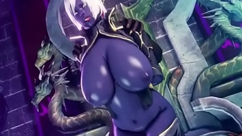 dark elf gets fuck by all fleshly