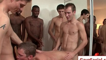 Bukkake Boys - Gay Hardcore Sex from www.GayzFacial.com 07