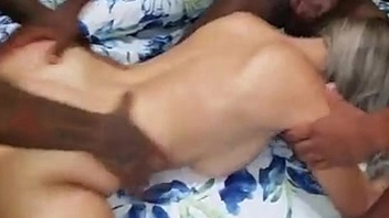 cuckold shares blonde wife with bbc
