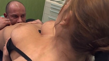 BJXCAM.COM Busty Russian dentist Candy Alexa dominates her at all events