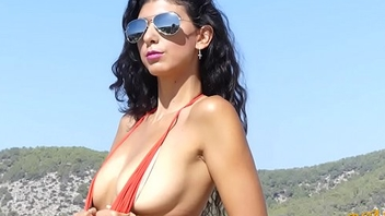 Real Bikini Girl KYM Heads Topless For The First Time