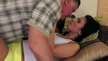 Handsome Denise Sky gets her pussy and ass licked by a grandpa