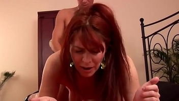 Of age hairy redhead 50plus fucked by junior guy