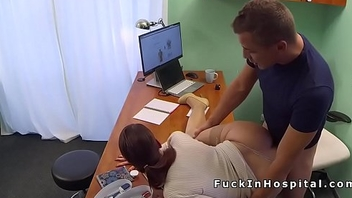 Brunette patient gets doctors dick for medical justification