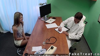 Russian babe first lifetime at doctor fucks him in office