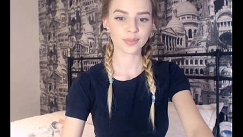 19 Year Old Legal age teenager Shows Her Perfect Tits On Webcam Part 1