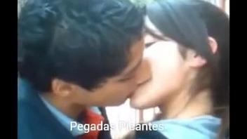 Hot girlfriend kissing her boyfriend in a organism way