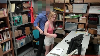 Wild Shoplifting Amateur Backroom Hidden-Camera Sex